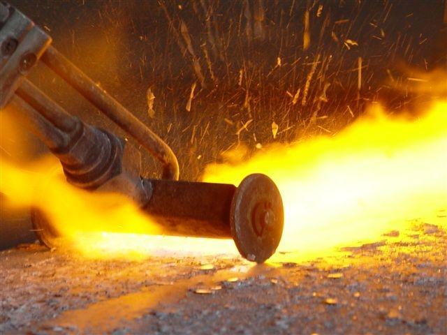 Обработка горелкой